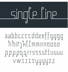 single line font vector image vector image