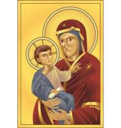 virgin Mary and Jesus Christ vector image vector image