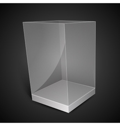 White Glass Rectangle Box vector image