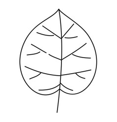 Wide leaf icon outline style vector