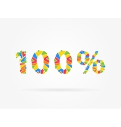 Discount 100 percent vector image
