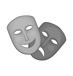Mask icon black monochrome style vector