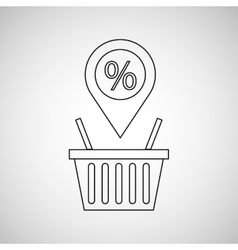 Basket shopping discount marketing icon vector