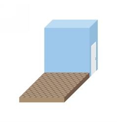 Empty stage Isometric square podium Storeroom vector image