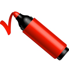 Red marker vector