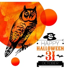 Halloween background Typographic poster vector image