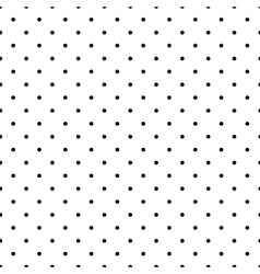 Tile pattern black polka dots on white background vector image