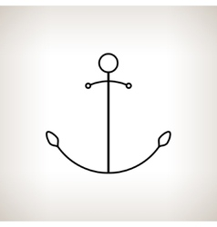 Silhouette anchor on a light background vector