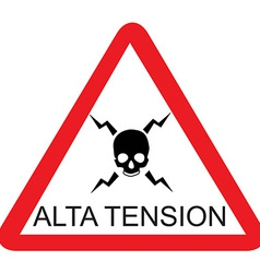 Alta tension vector