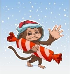 Monkey symbol 2016 Monkey has great candy Monkey vector image
