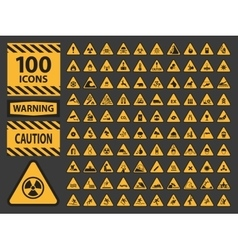 Icn set triangle yellow warning caution vector