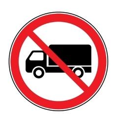 No truck sign vector