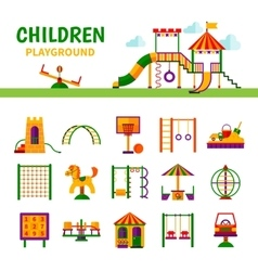 Children playground equipment vector