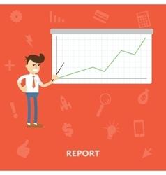 Schedule concept report flat vector