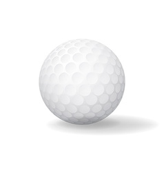 Ball for golf golfball icon game symbol vector