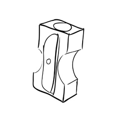 Pencil sharpener icon instrument design vector