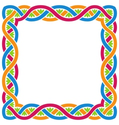 Abstract celtic weaving framework vector