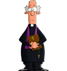 catholic priest vector image