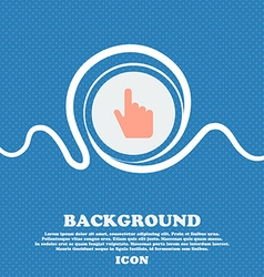 cursor sign icon Blue and white abstract vector image