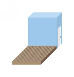 Empty stage Isometric square podium Storeroom vector image