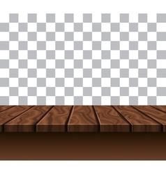 Empty wooden tabletop vector
