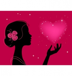 girl silhouette vector image vector image