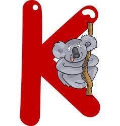 K for koala vector image