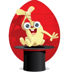 Magic easter bunny cartoon vector
