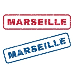 Marseille Rubber Stamps vector image vector image