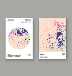 Neon explosion paint splatter artistic cover vector