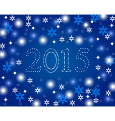 New Year 2015 on a blue background with snowflakes vector image