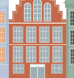 Original houses with the current paint vector