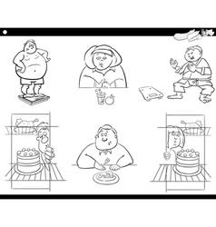 people on diet set vector image