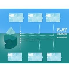 Polygonal iceberg infographic vector