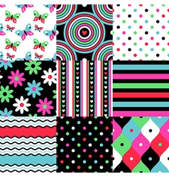 pop patterns collection vector image vector image