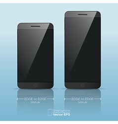 Responsive smart phone mock up vector