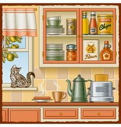 Retro kitchen vector image vector image