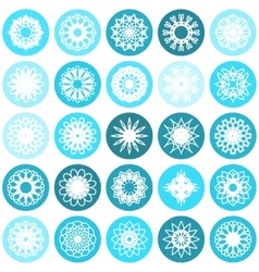 Round Ornament Set vector image vector image