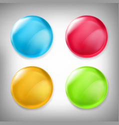 set of 3d design elements glossy icons vector image vector image