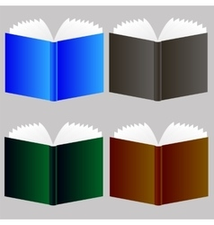 Set of Different Book Icons vector image