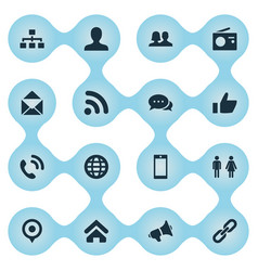 Set of simple social icons vector