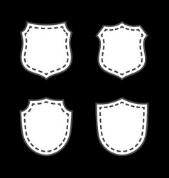 shield icons set vector image vector image