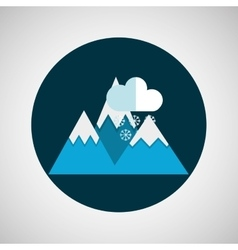 snowy mountains rain weather concept design vector image vector image