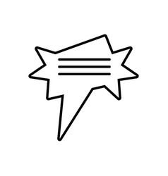 Star speech april fools line vector