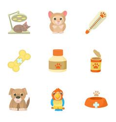 Veterinarian icons set cartoon style vector