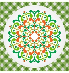 vintage with radial ornament vector image