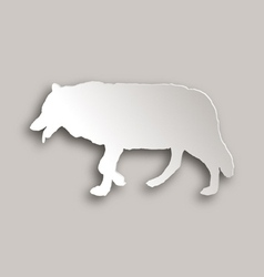 Wolf paper style vector