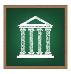 Historical building  white chalk vector