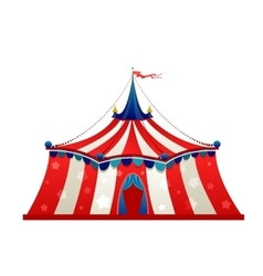Circus marquee tent vector image