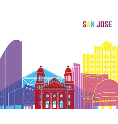 San jose skyline pop vector